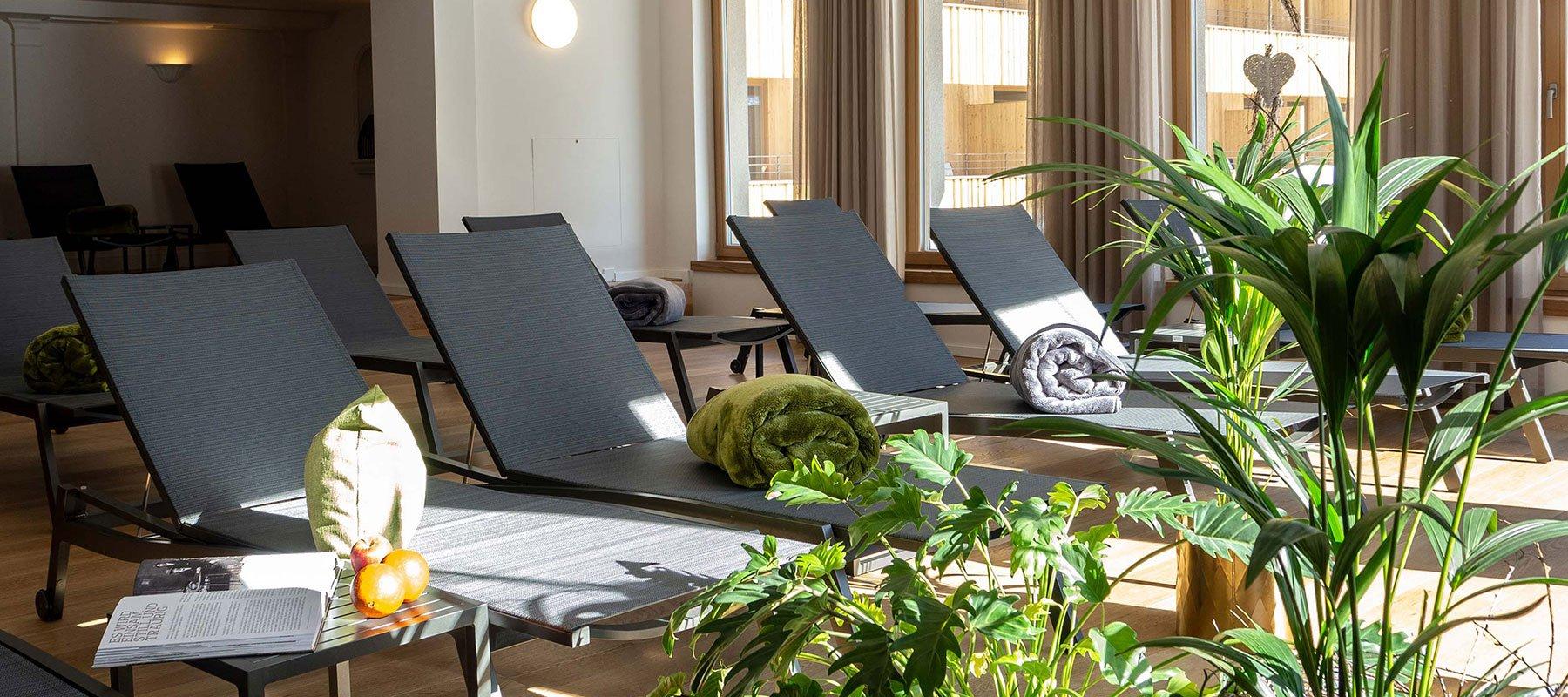 Wellnessbereich im Alpenhotel Zimba